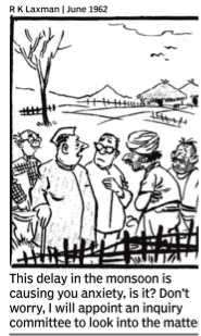 RKLaxman on Onset of Monsoon